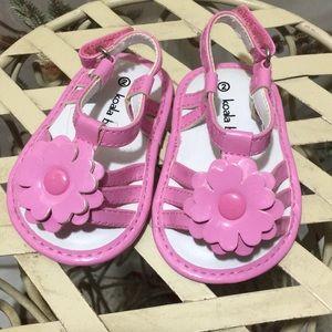 Pink Koala Baby Flower Sandals